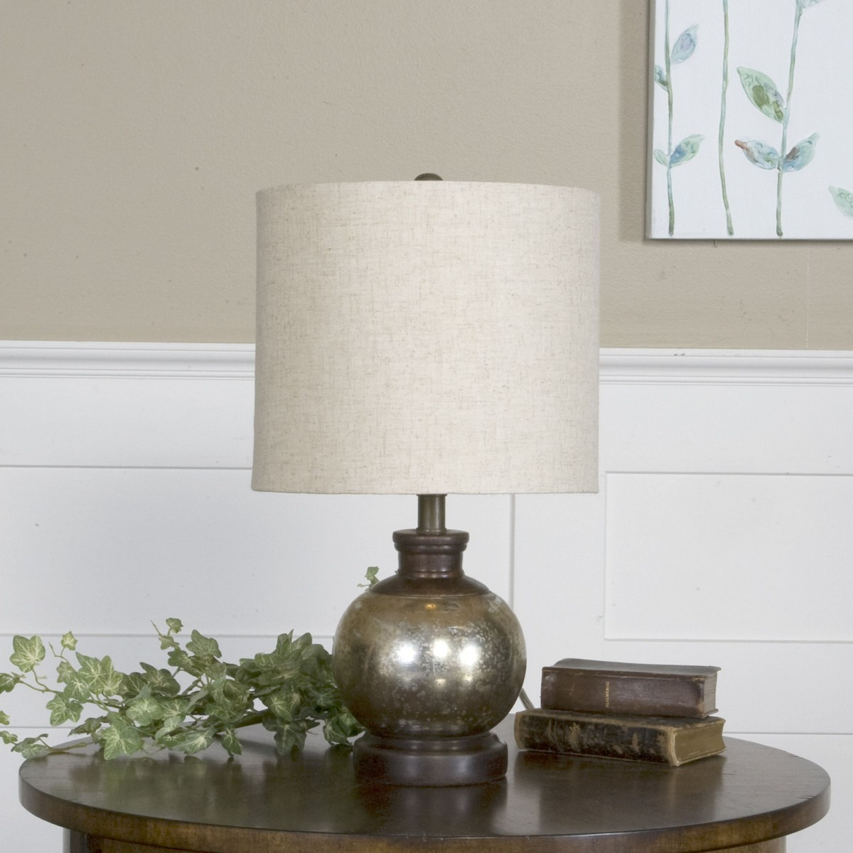 Uttermost Arago Antique Glass Table Lamp