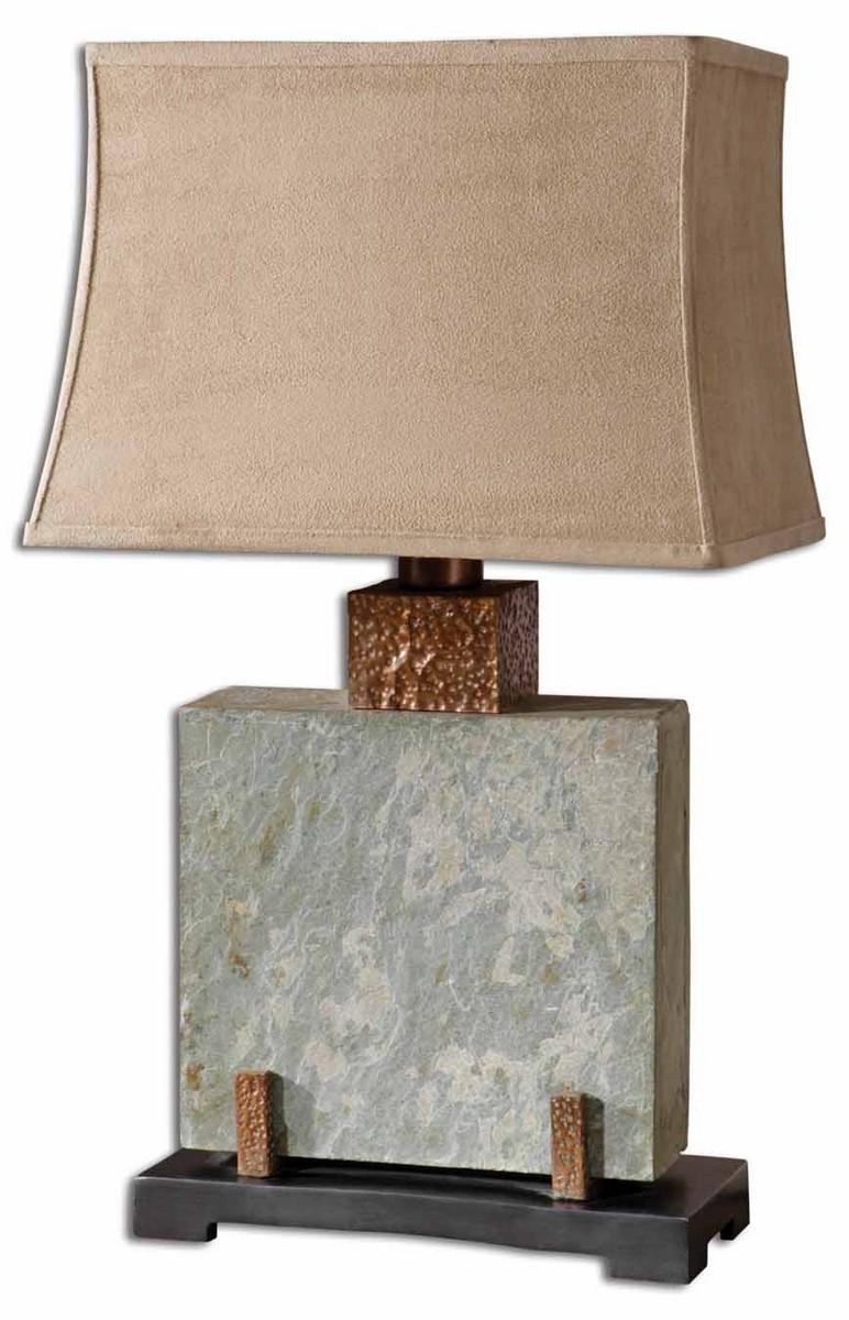 Uttermost Slate Square Table Lamp 26321-1