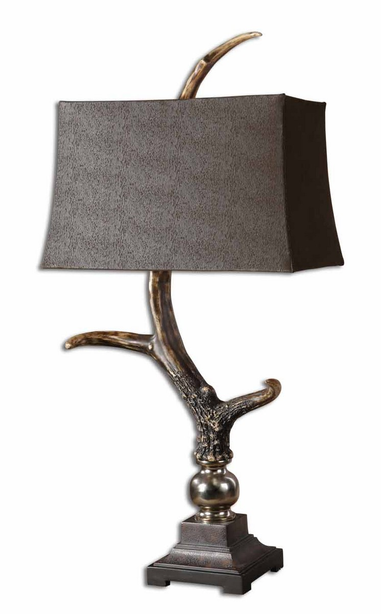 Uttermost Stag Horn Dark Shade Table Lamp 27960