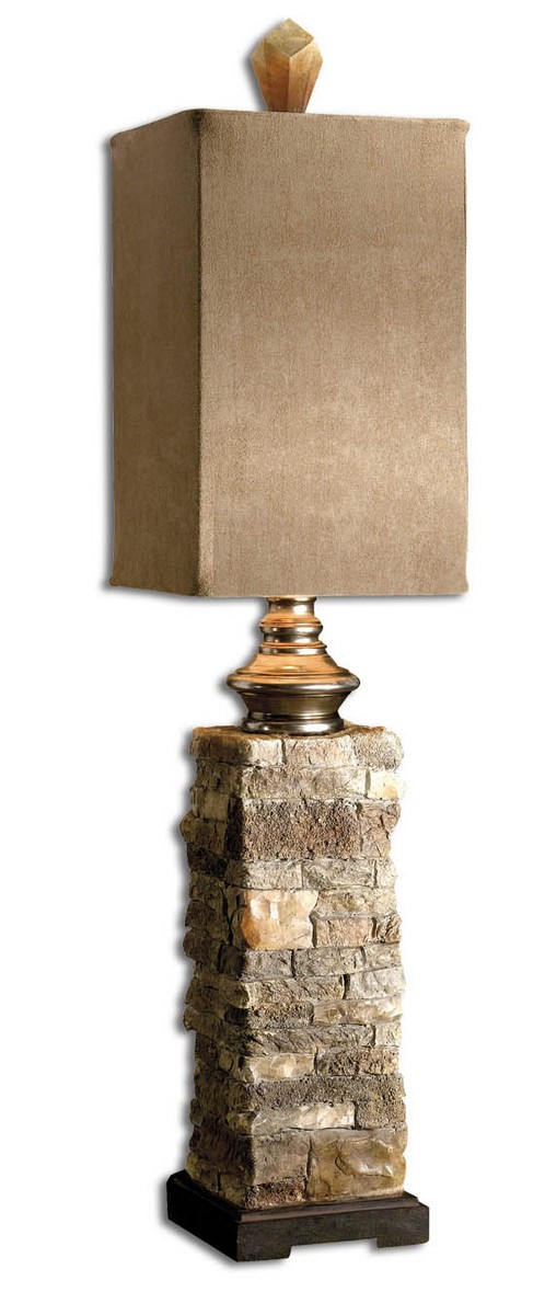 Uttermost Andean Layered Stone Buffet Lamp