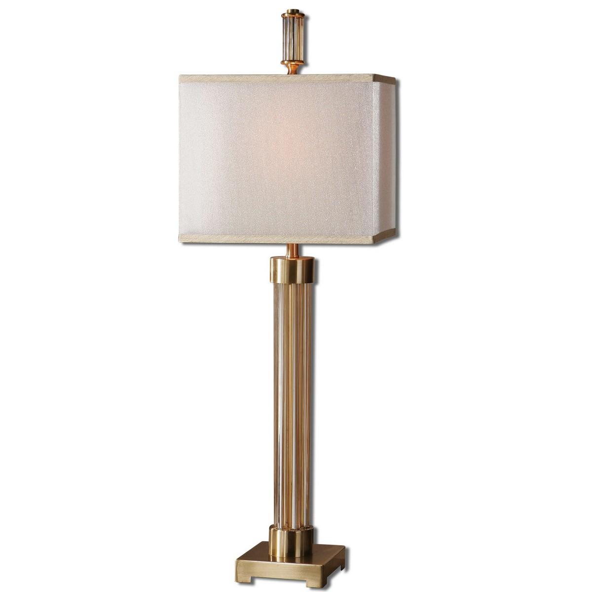 Uttermost Moraira Amber Glass Buffet Lamp 29938-1
