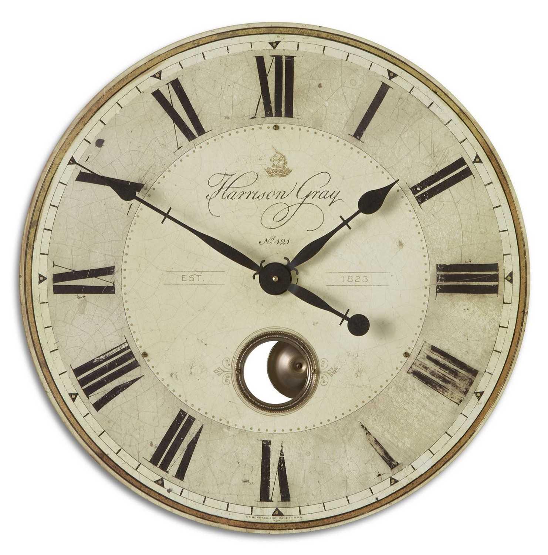 Uttermost Harrison 23 Inch Clock - Gray