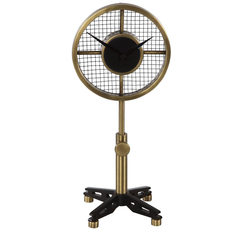 Uttermost Gio Table Clock - Brass