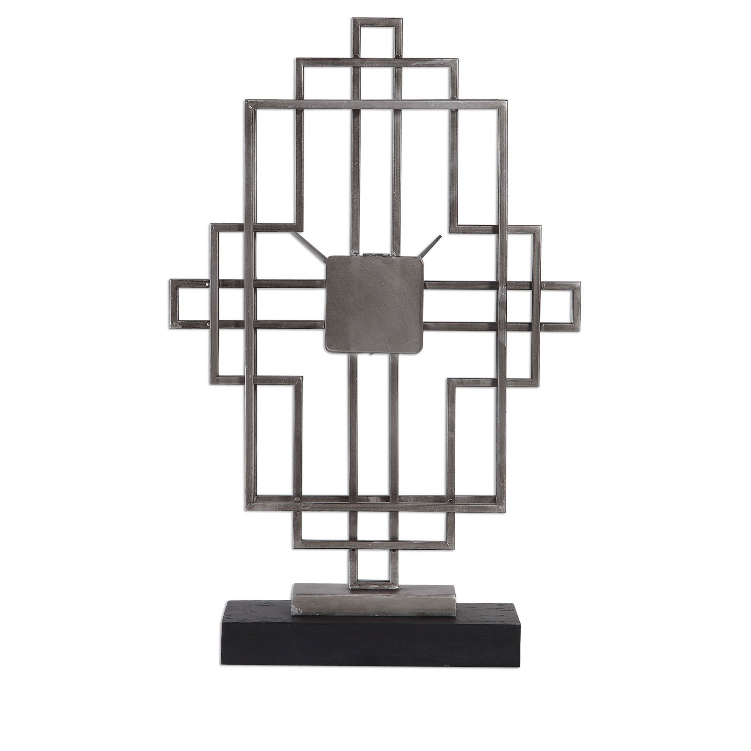 Uttermost Vanini Tabletop Clock - Silver