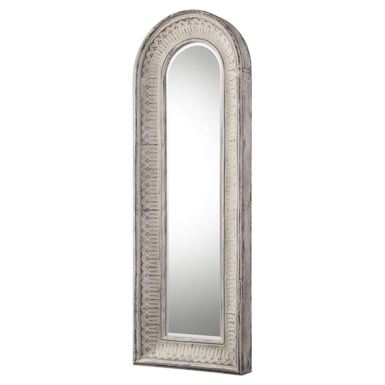 Uttermost Argenton Arch Mirror - Aged Gray
