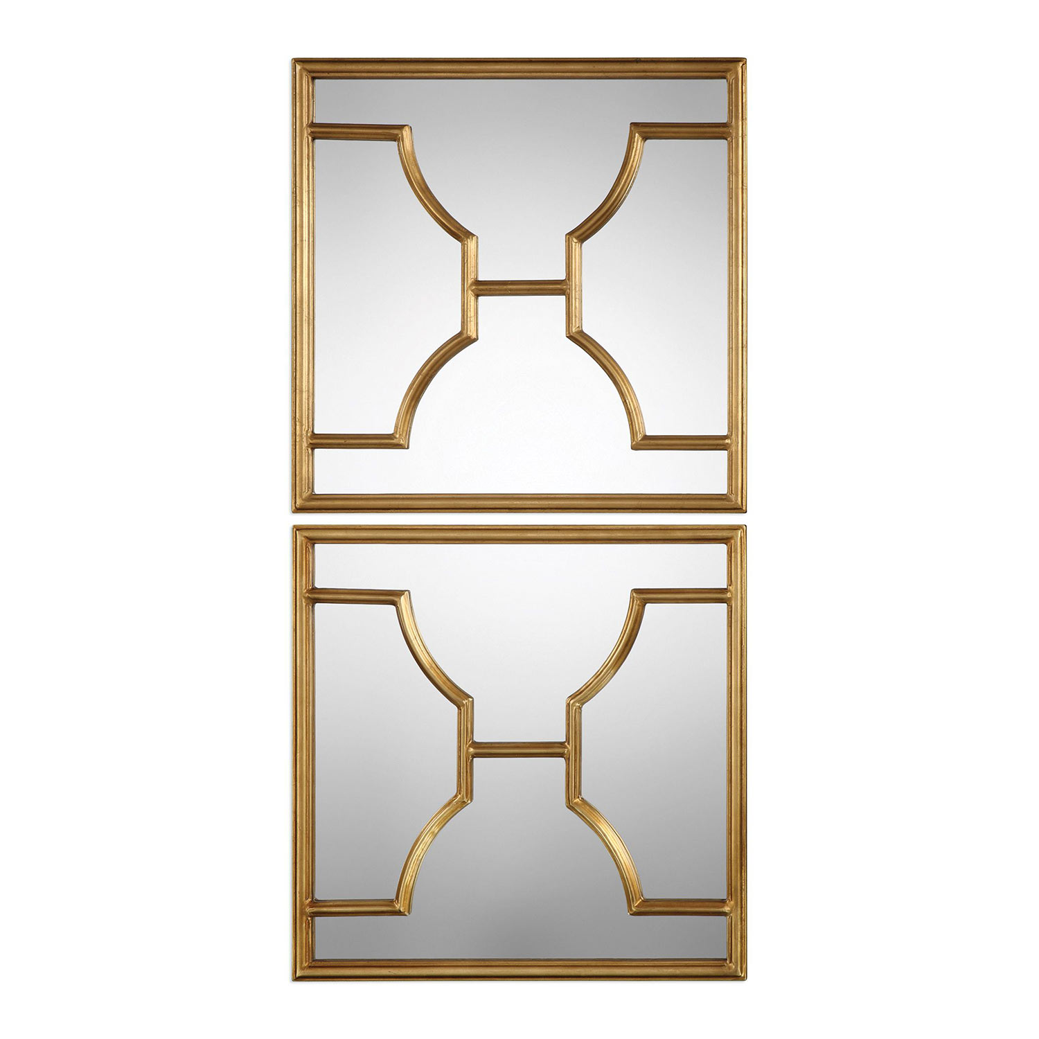 uttermost misa gold square mirrors