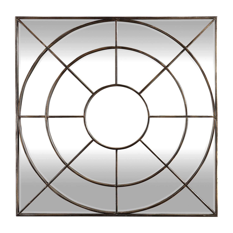 Uttermost Oberon Mirror - Rustic Bronze