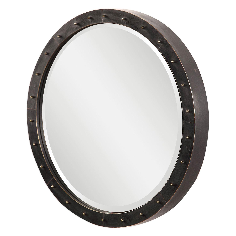 Uttermost Beldon Round Industrial Mirror