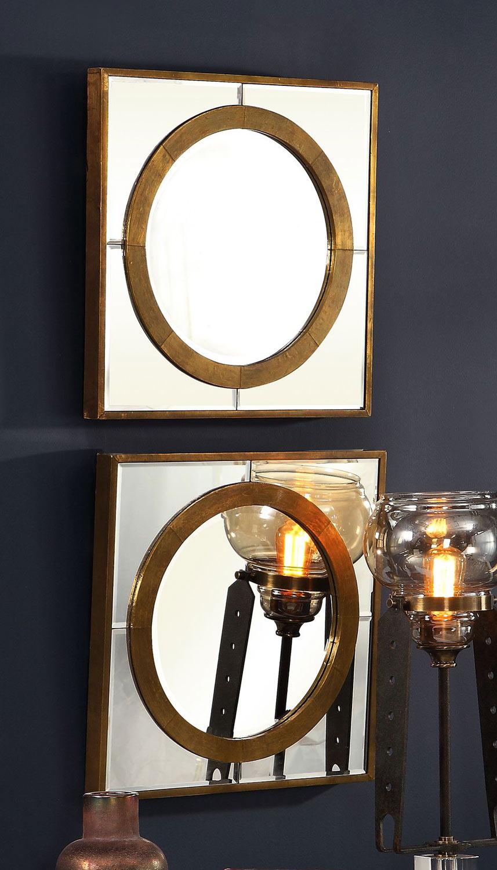 Uttermost Gaza Square Mirrors - Set of 2 - Gold