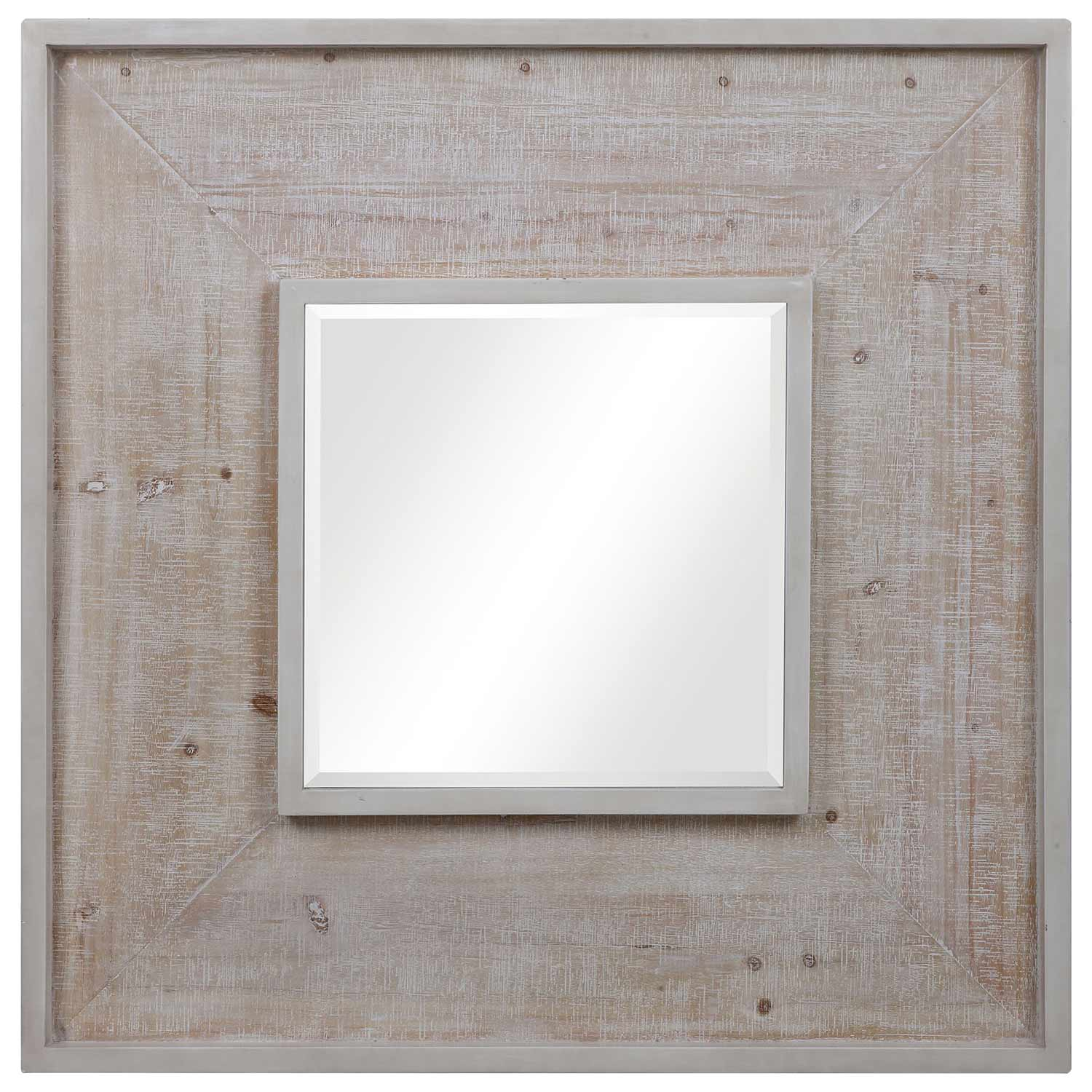 Alee Square Mirror - Driftwood