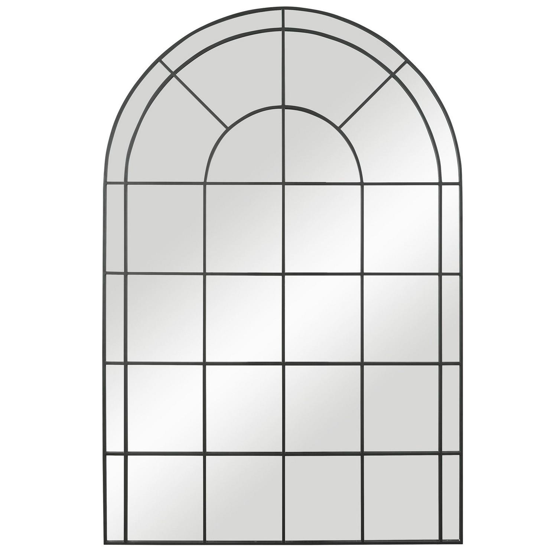 Uttermost Grantola Arch Iron Mirror - Black