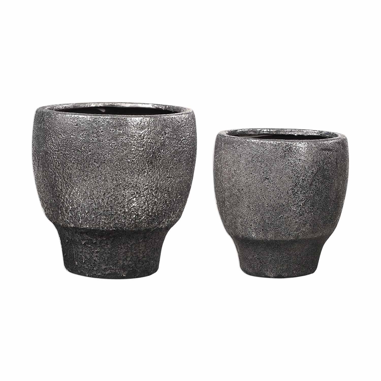 Uttermost Jayda Bowls - Set of 2 - Lava Black