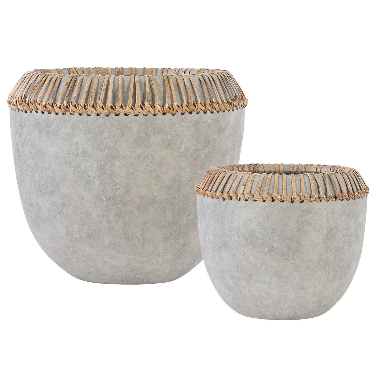 Aponi Concrete Ray Bowls - Set of 2