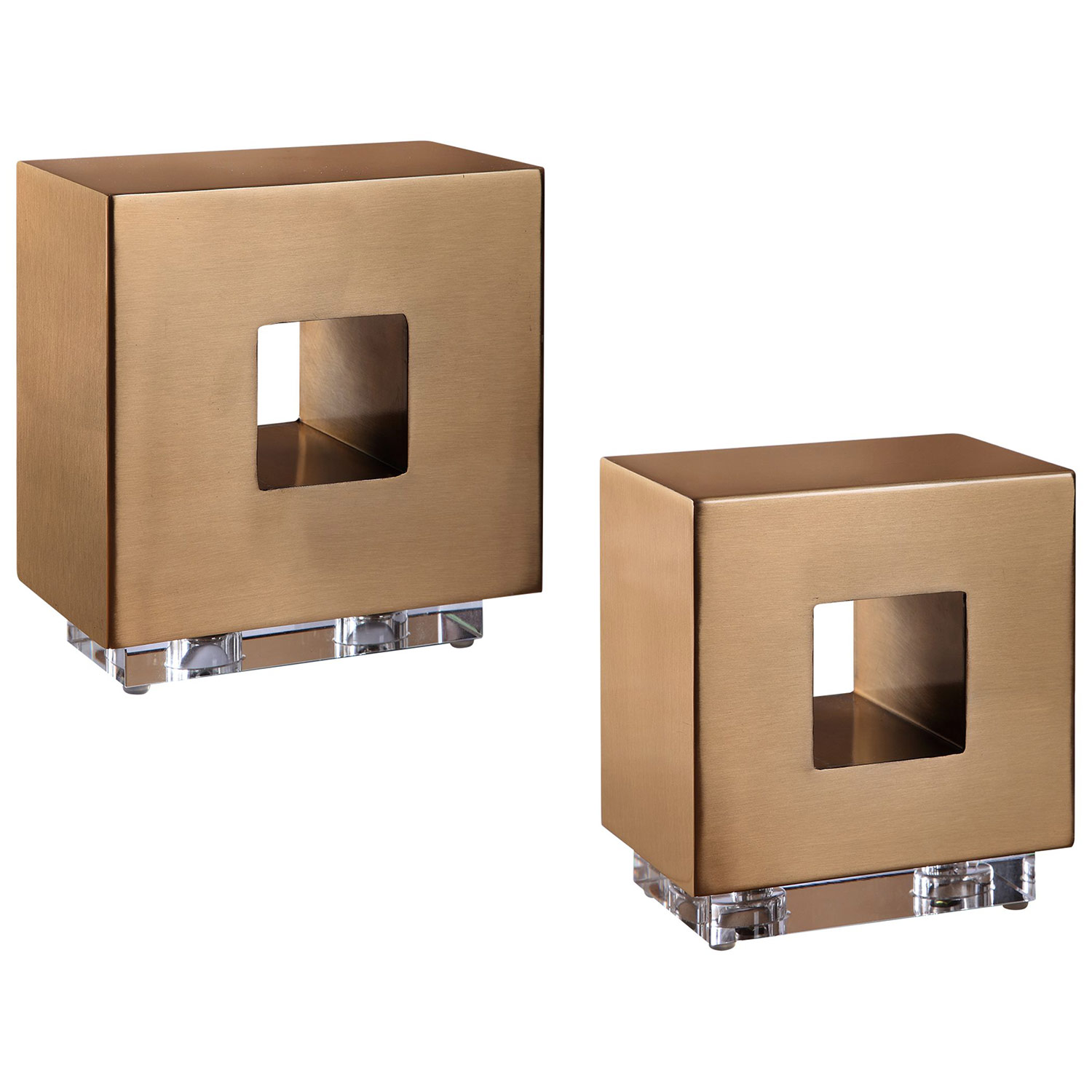 Rooney Cubes - Set of 2 - Brass