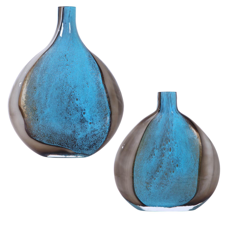 Uttermost Adrie Art Glass Vases - Set of 2