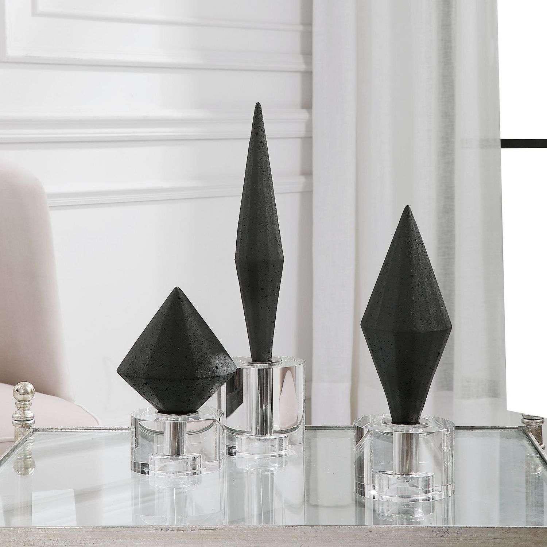 Uttermost Alize Sculptures - Set of 3 - Black