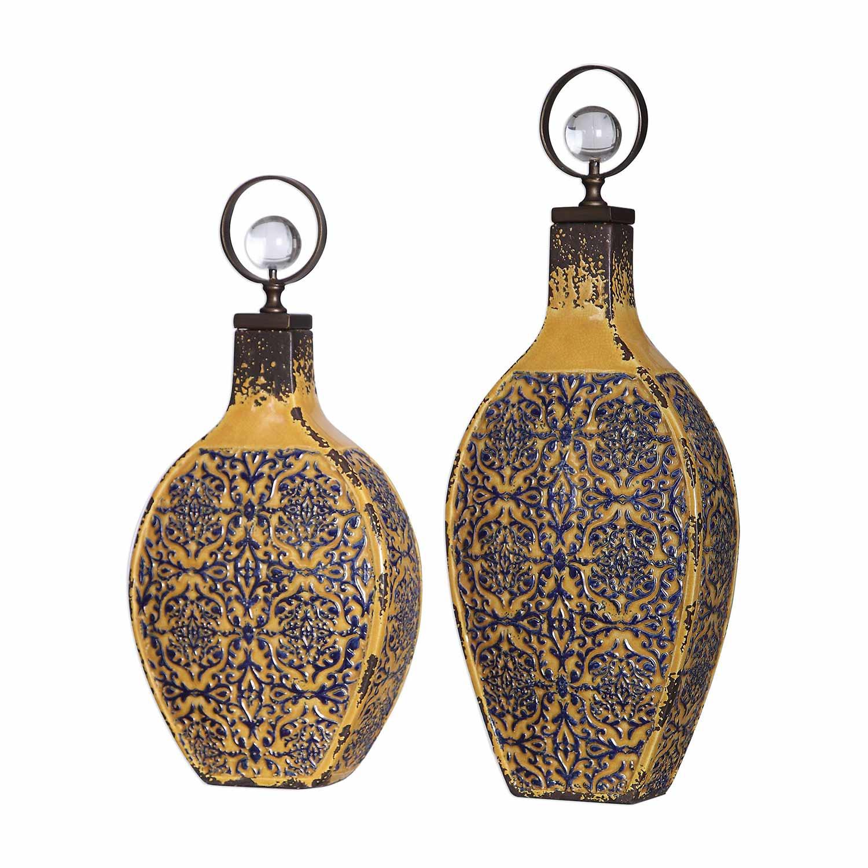 Uttermost Katelyn Ceramic Vessels - Set of 2