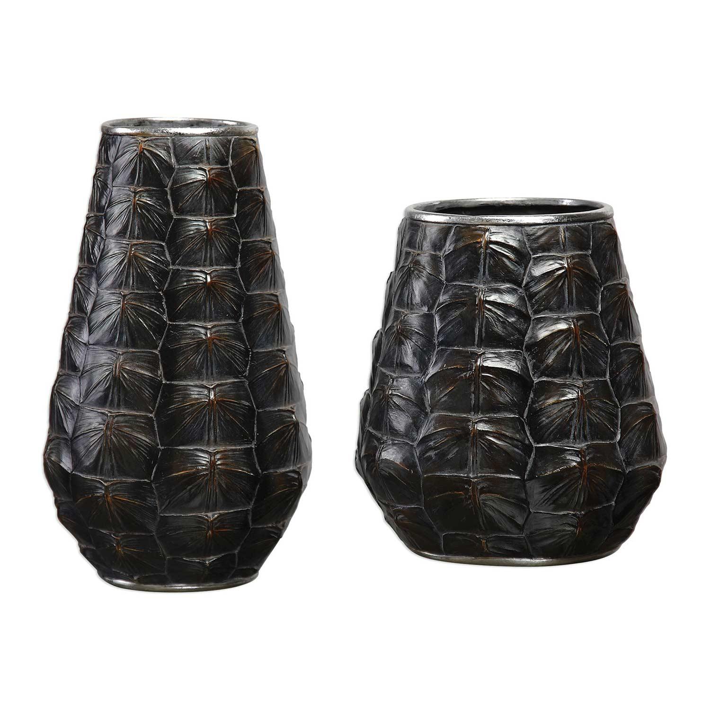 Uttermost Kapil Tortoise Shell Vases - Set of 2