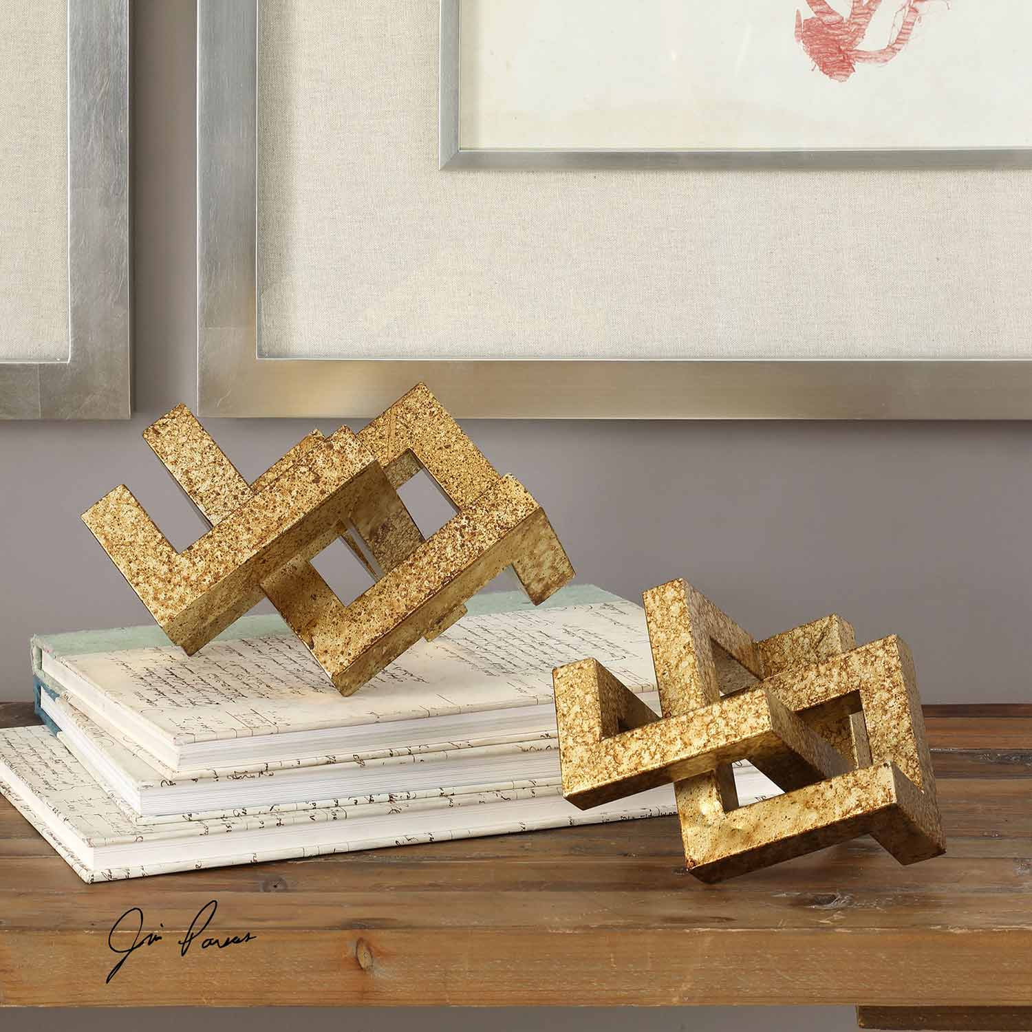 Uttermost Ayan Accents - Gold - Set of 2