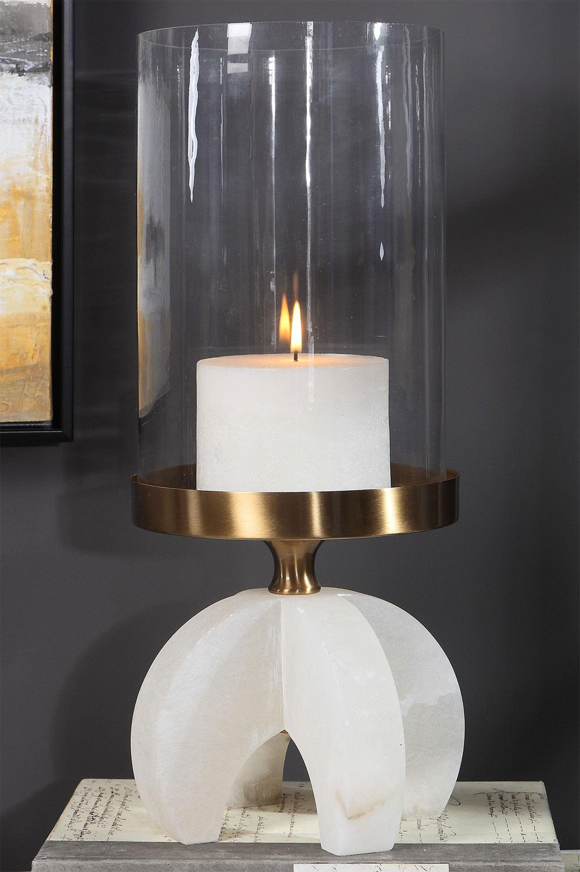 Uttermost Alanea Alabaster Candleholder