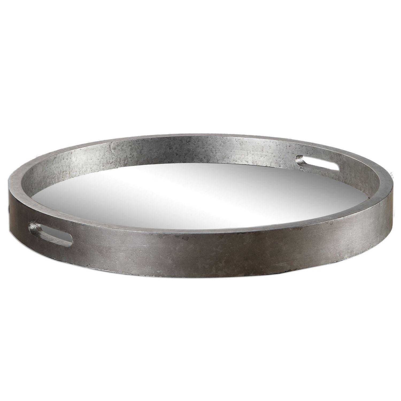 Uttermost Bechet Round Tray - Silver