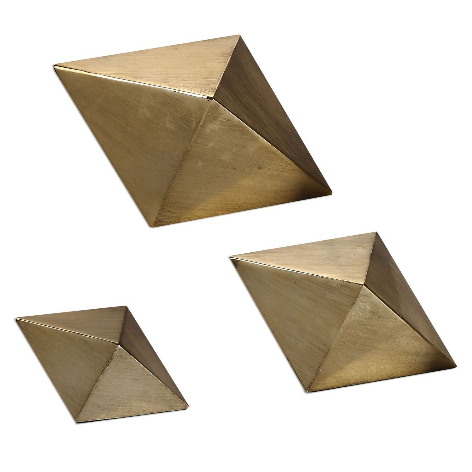 Uttermost Rhombus Accents - Set of 3 - Champagne