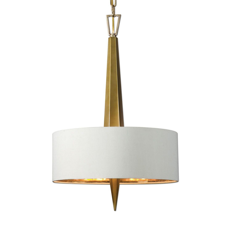 Uttermost Obeliska 3 Light Chandelier - Gold