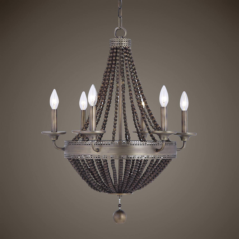 Uttermost Thursby 6-Light Beaded Chandelier - Brass