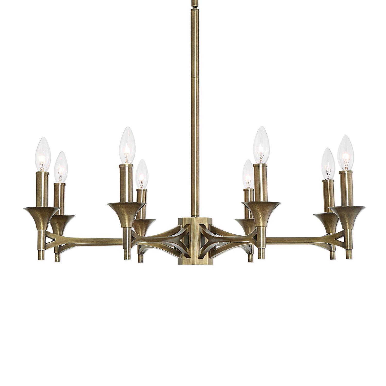 Uttermost Brant 8-Light Chandelier - Aged Brass