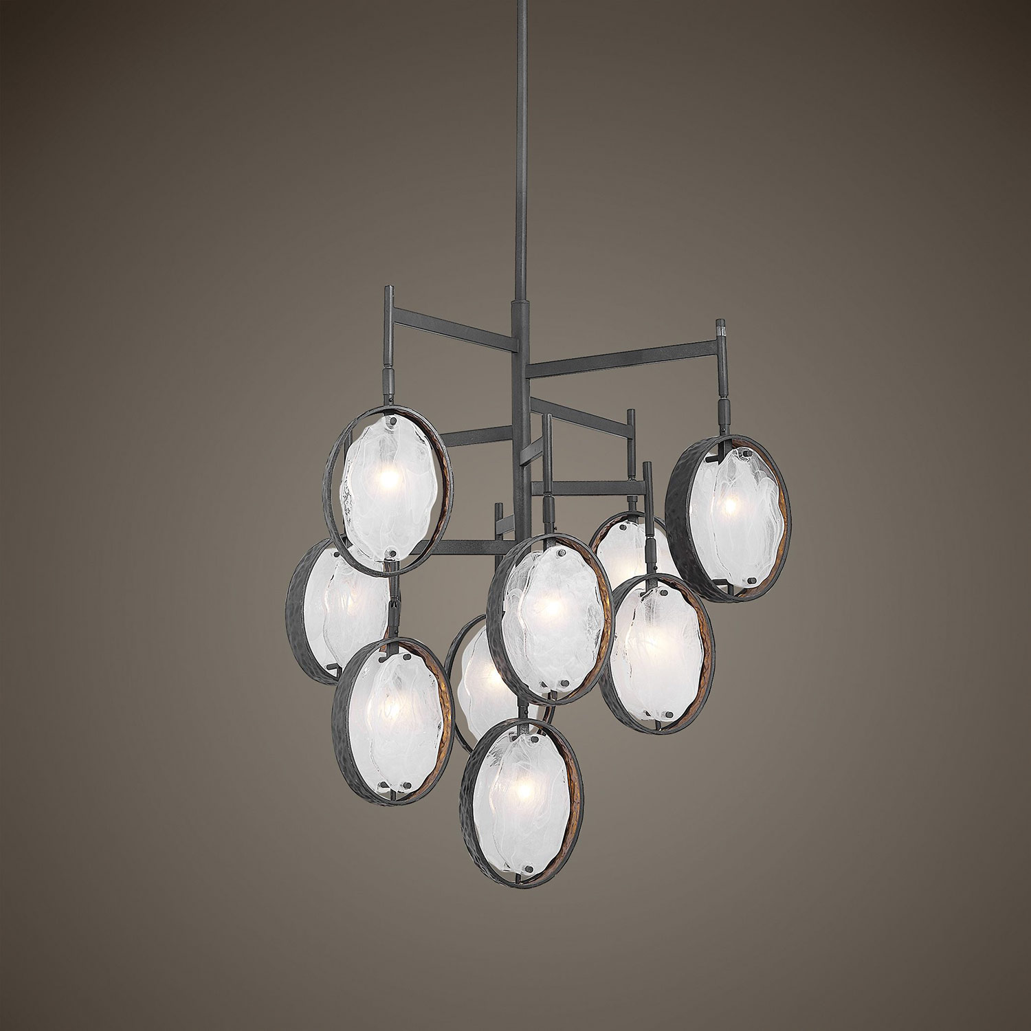 Uttermost Maxin 9-Light Chandelier - Dark Bronze