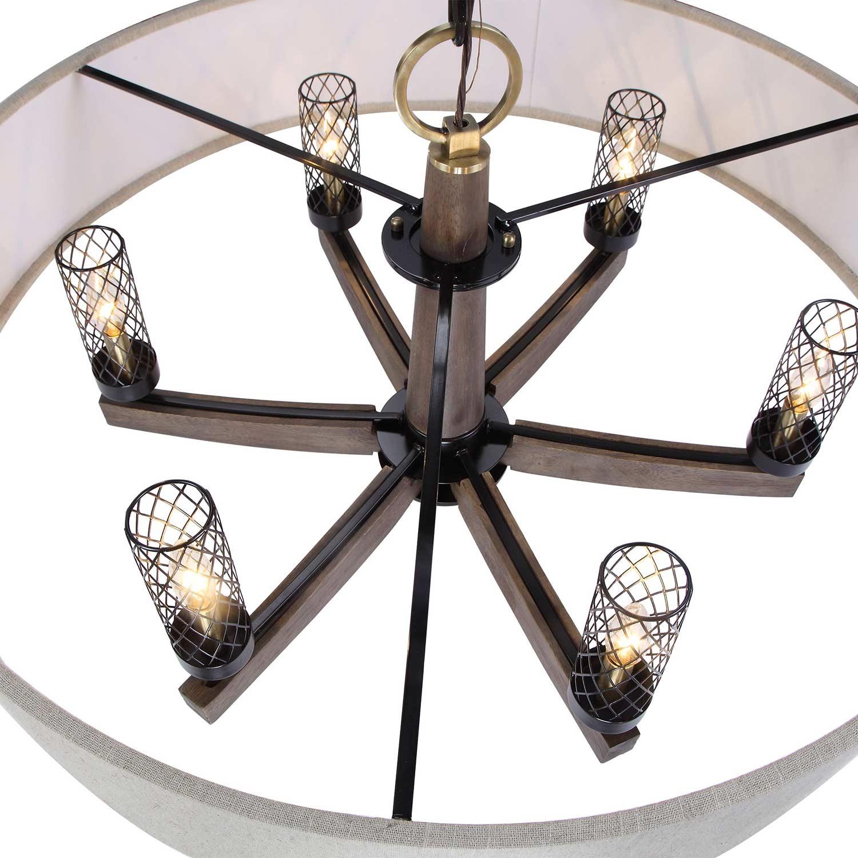 Uttermost Woodall 6 Light Drum Chandelier