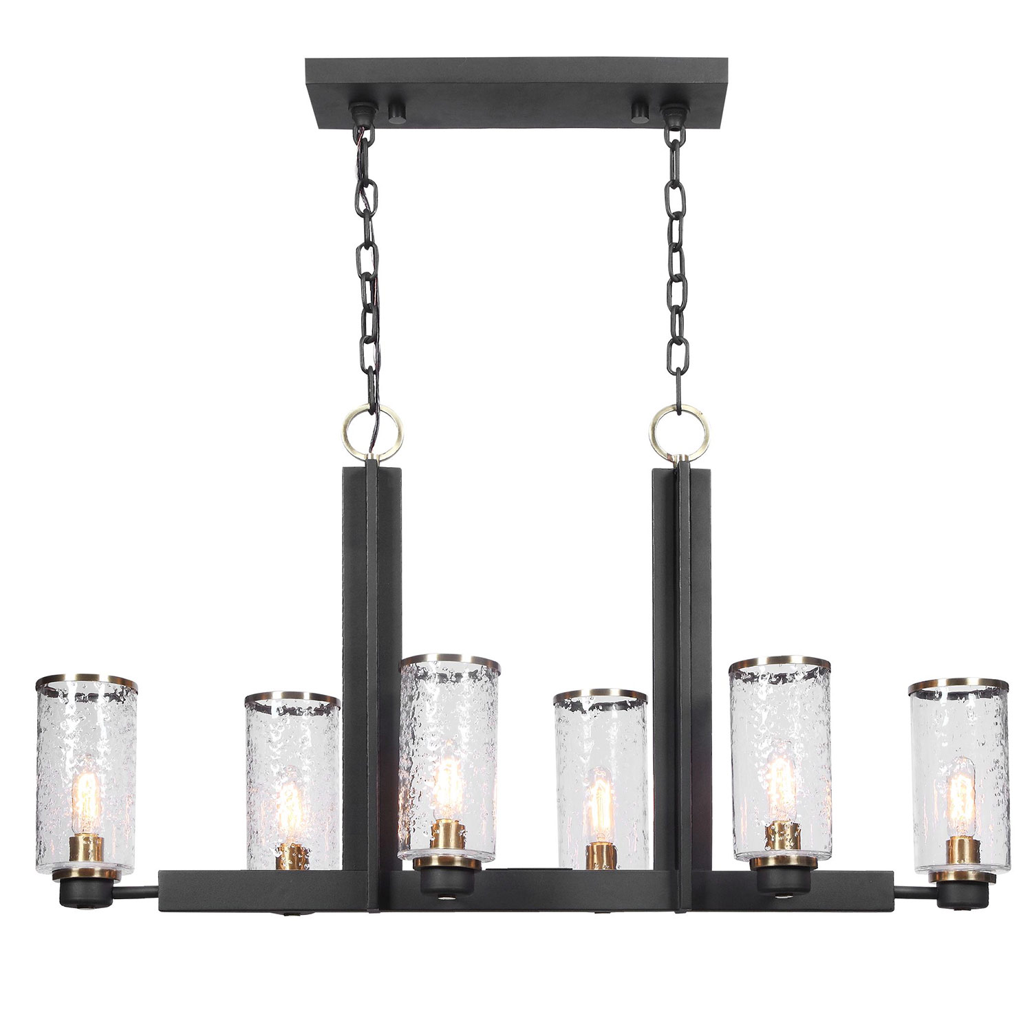Uttermost Jarsdel 6 Light Industrial Island Light
