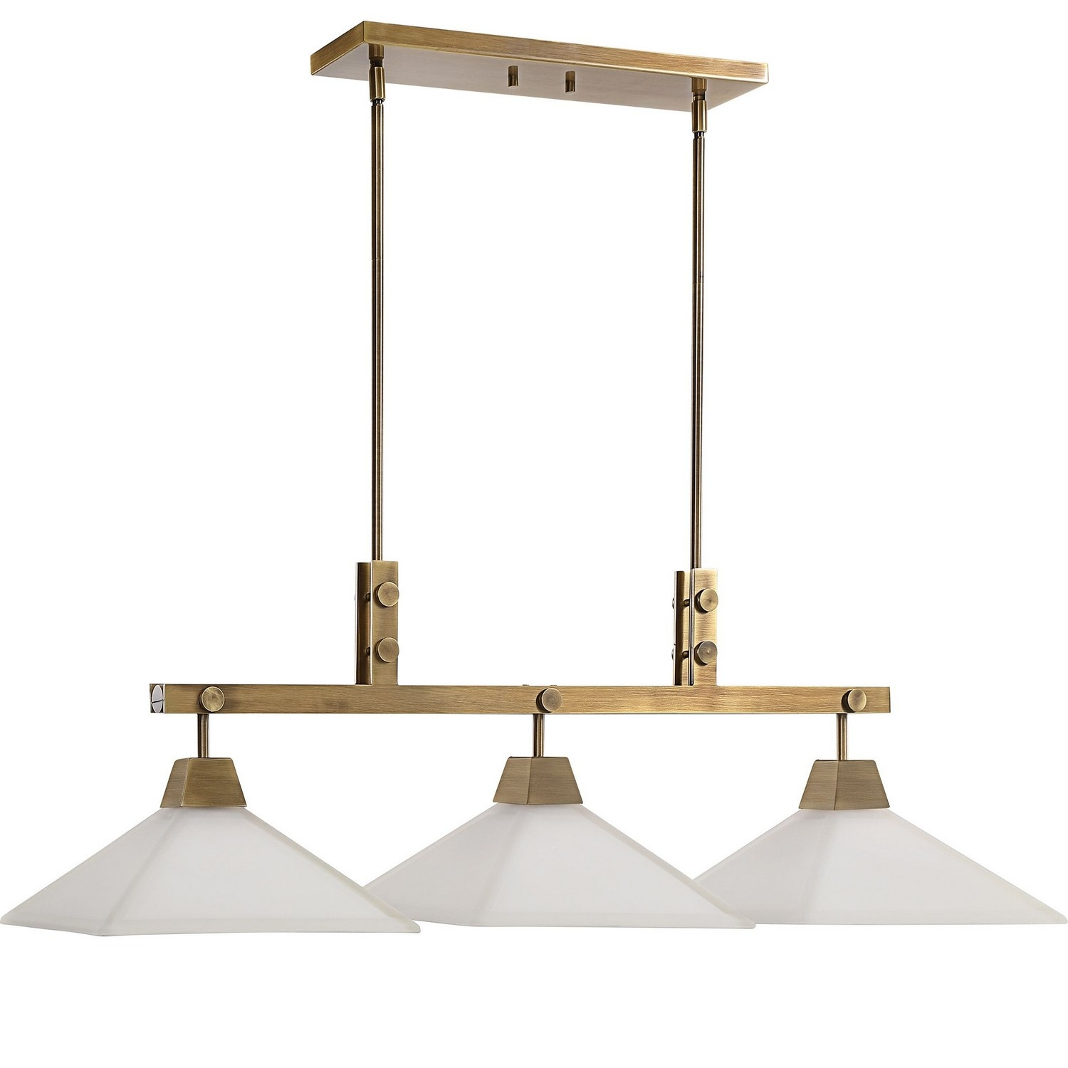 Uttermost Brookdale Industrial 3 Light Linear Chandelier