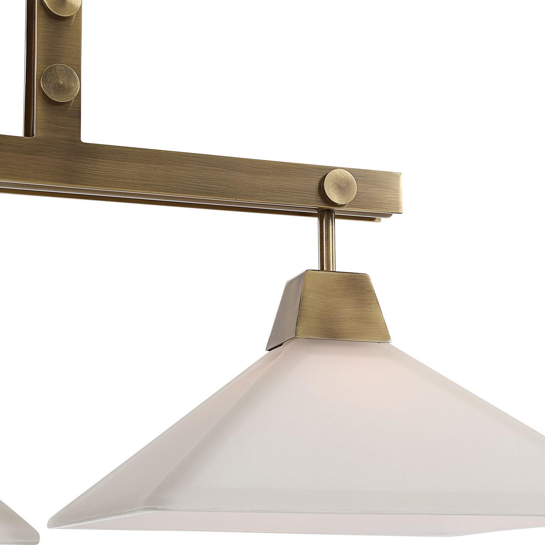 Uttermost Brookdale Industrial 3 Light Linear Chandelier
