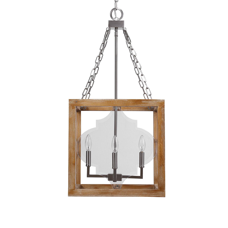 Uttermost Perspex 4 Light Lantern Pendant