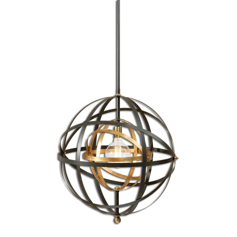 Uttermost Rondure 1 Light Sphere Pendant