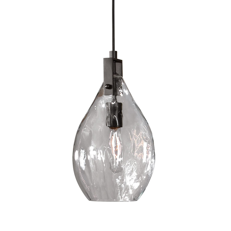 Uttermost Campester 1 Light Watered Glass Mini Pendant