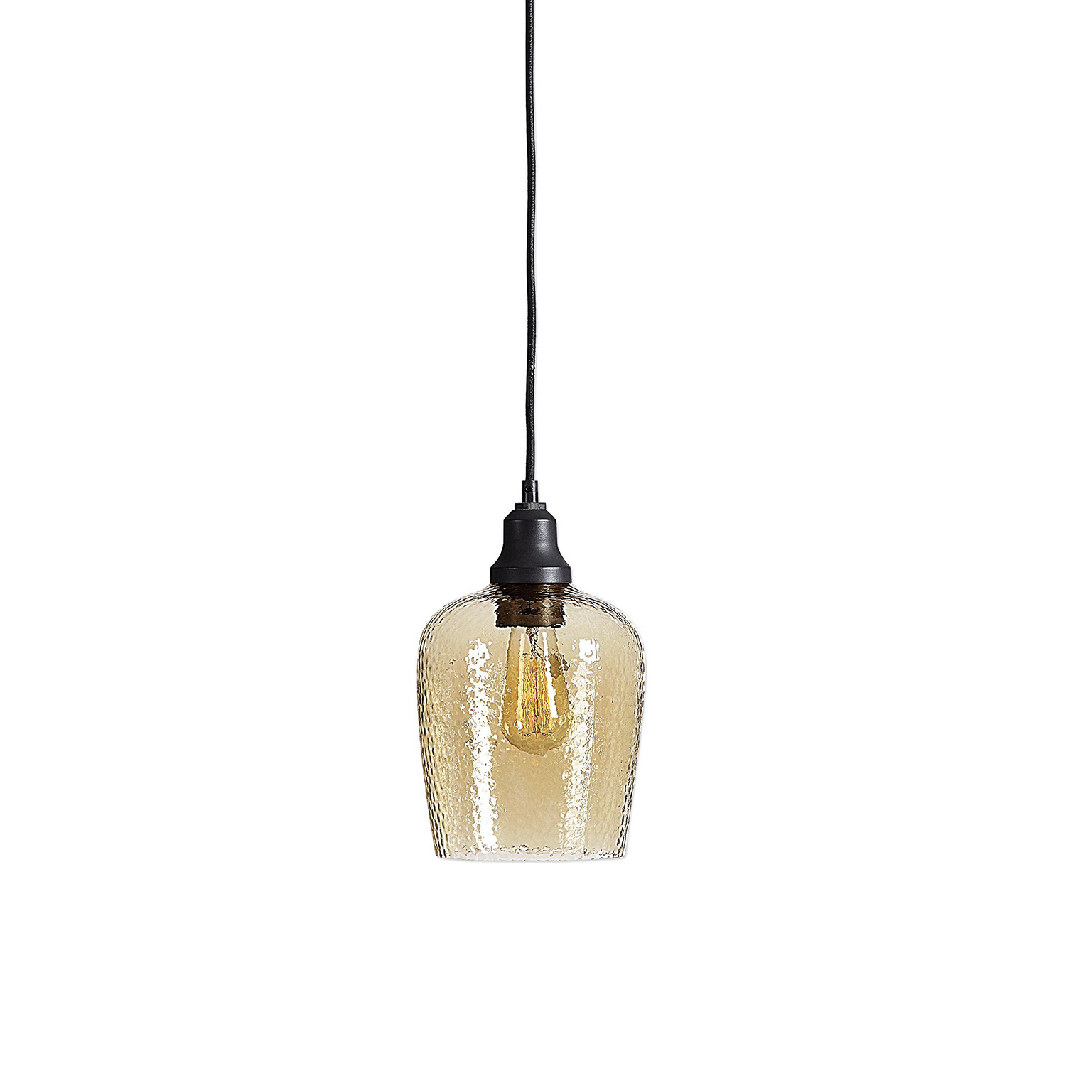 Uttermost Aarush Light Mini Pendant - Amber Glass