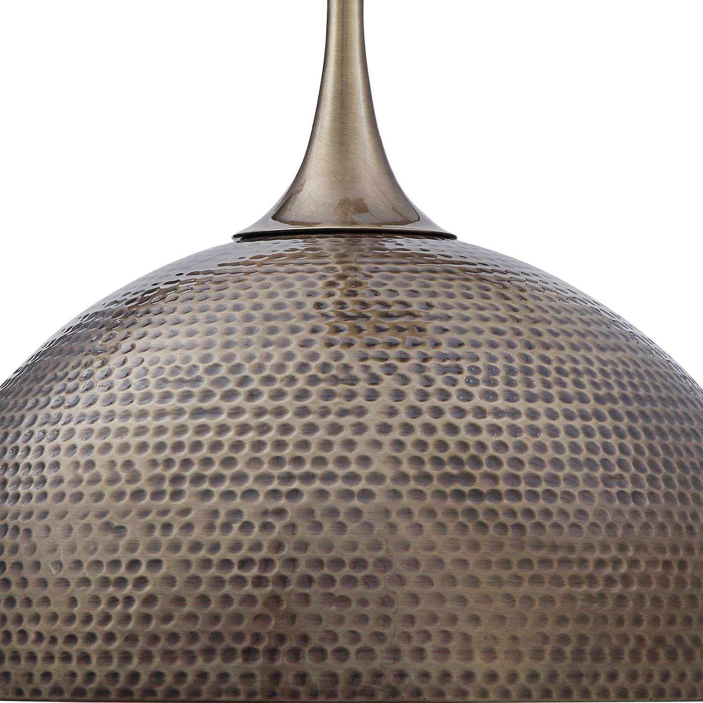 Uttermost Raynott Brass 1 Light Dome Pendant