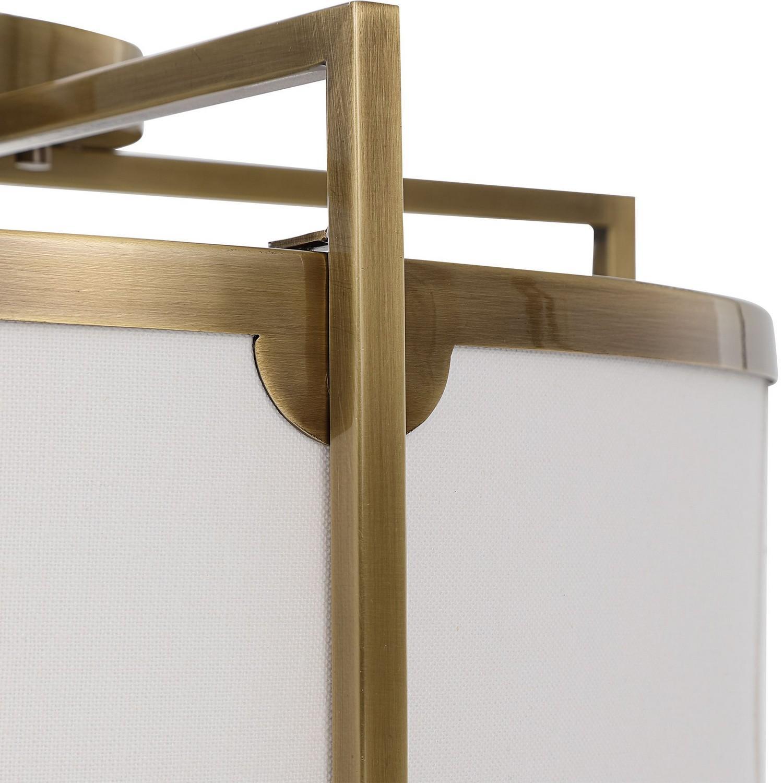 Uttermost Colfax 3 Light Semi Flush - Brass