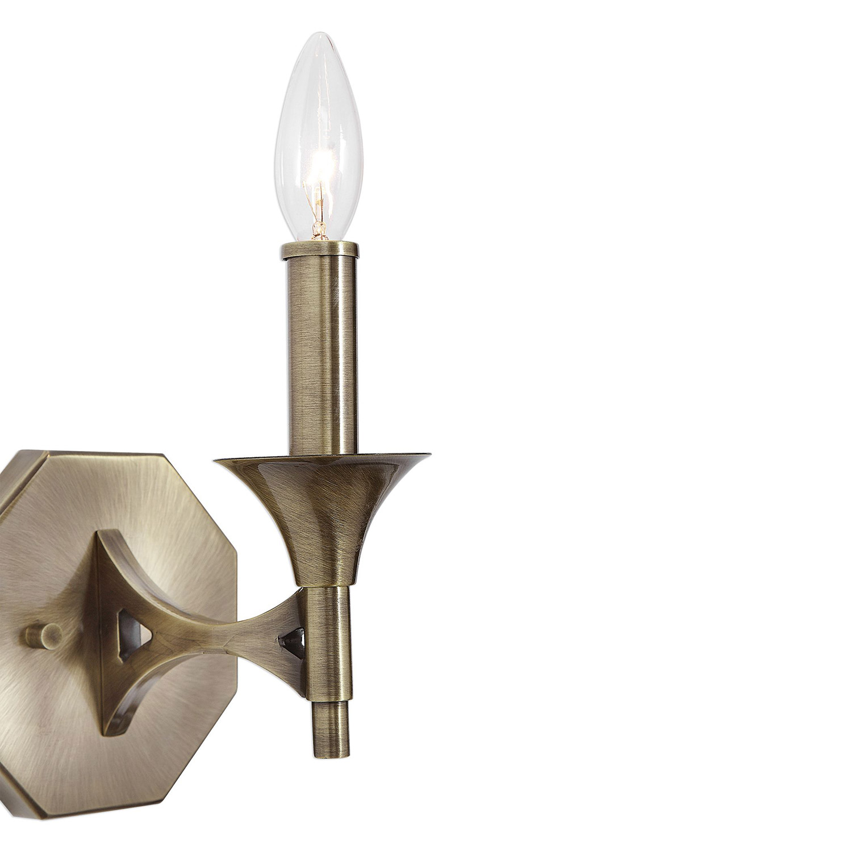 Uttermost Brant Light Sconce - Aged Brass