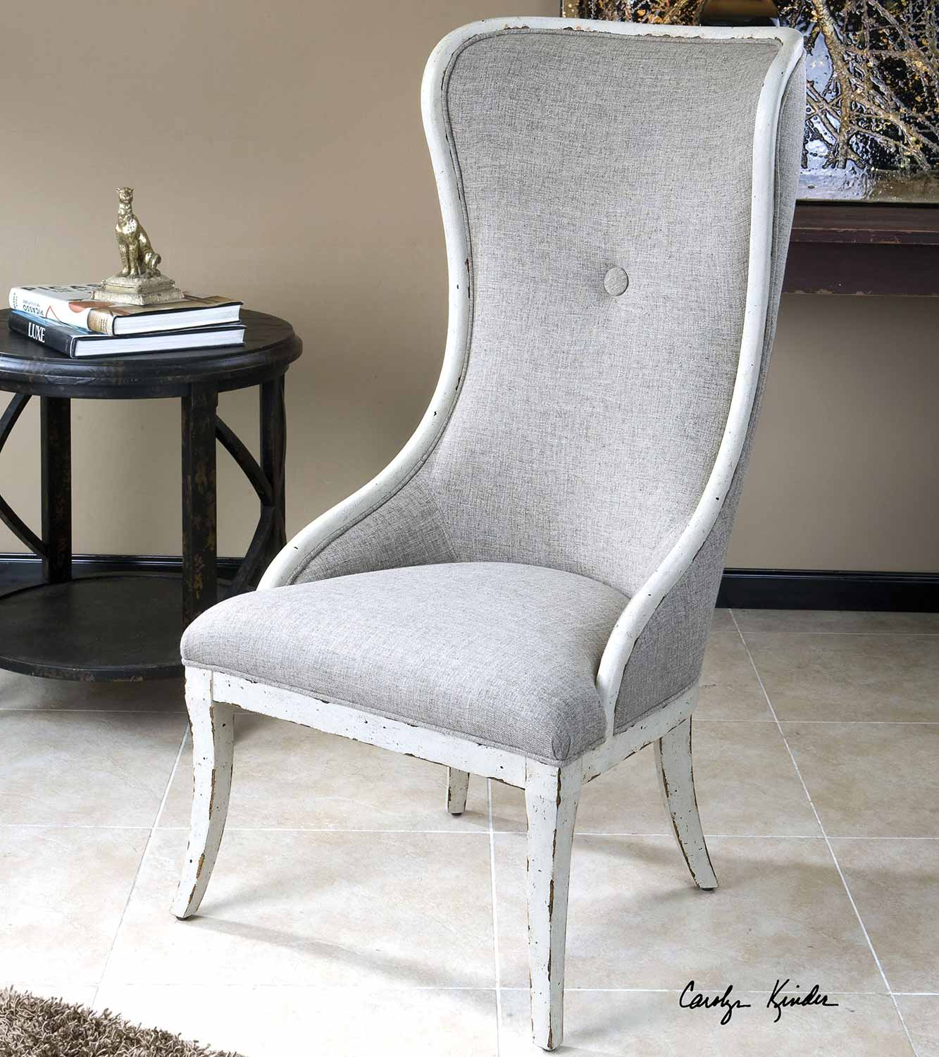 Uttermost Selam Aged Wing Chair