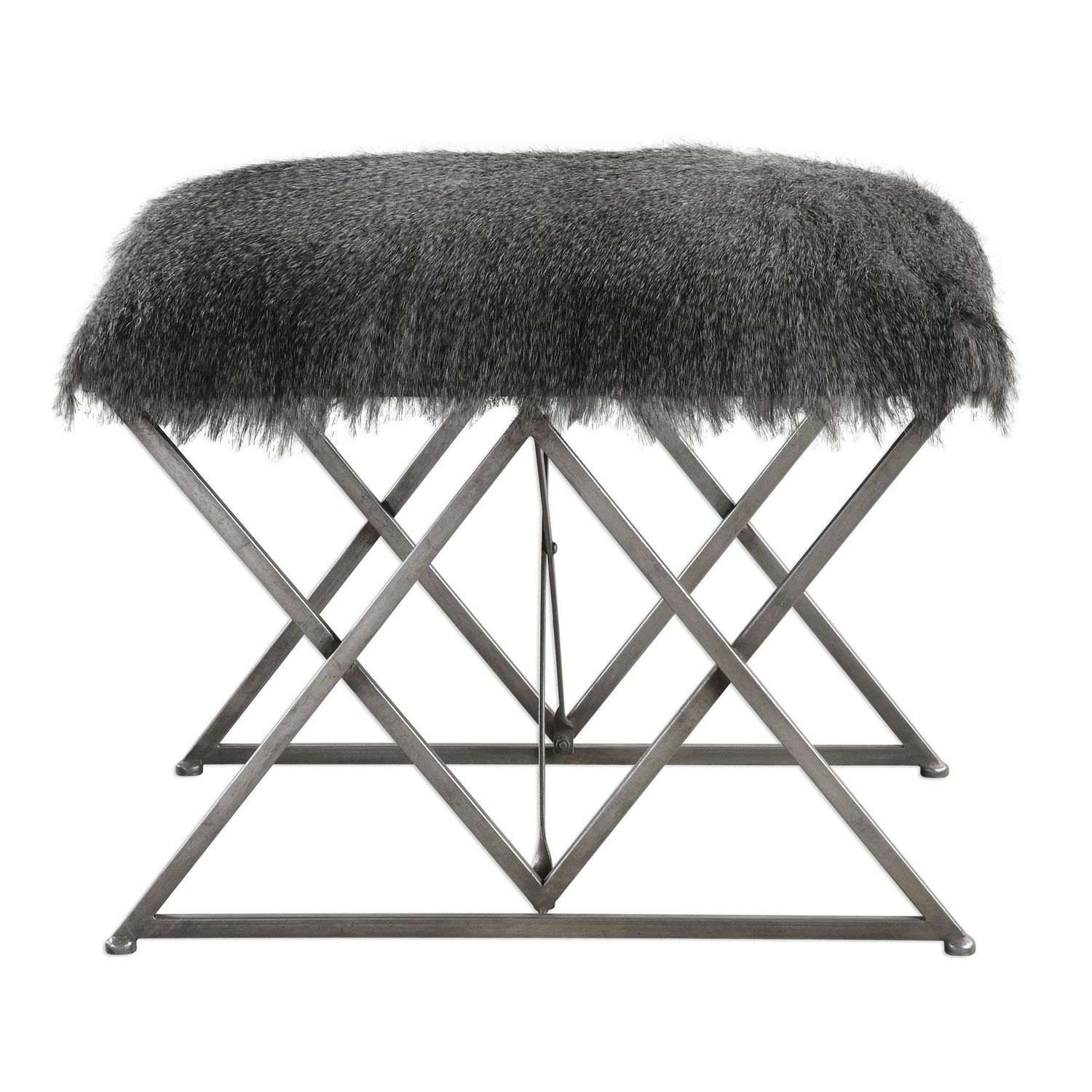 Uttermost Astairess Fur Small Bench