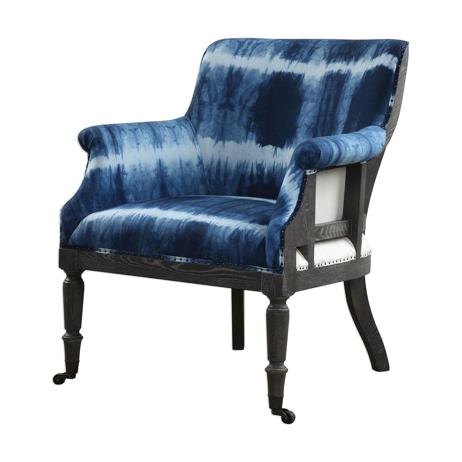 Uttermost Royal Cobalt Accent Chair - Blue