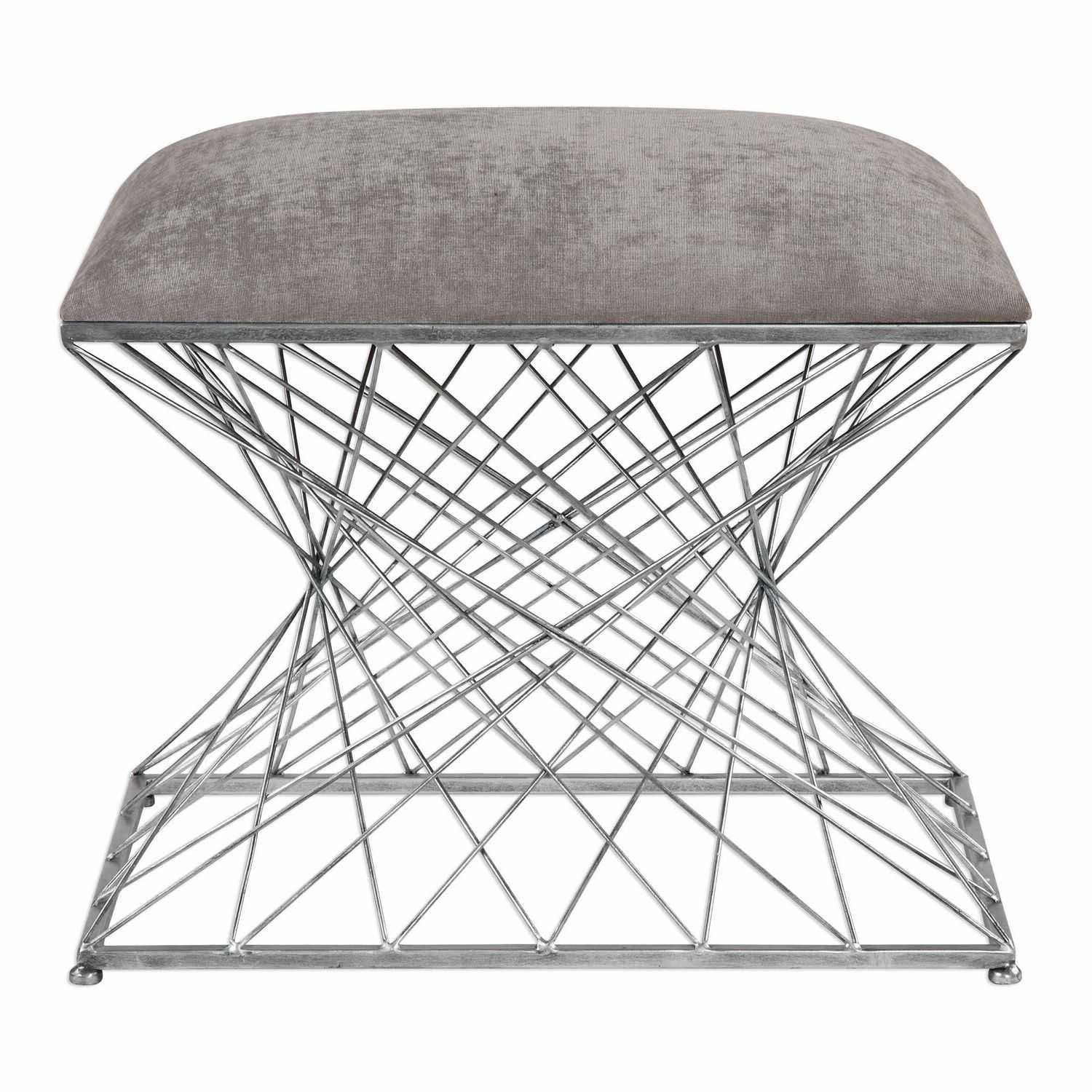 Uttermost Zelia Accent Stool - Silver