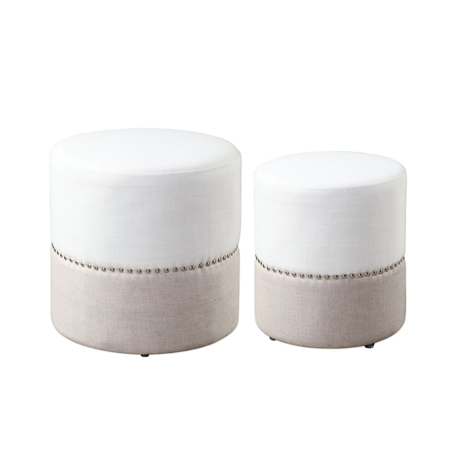 Uttermost Tilda Two-Toned Nesting Ottomans - Set of 2