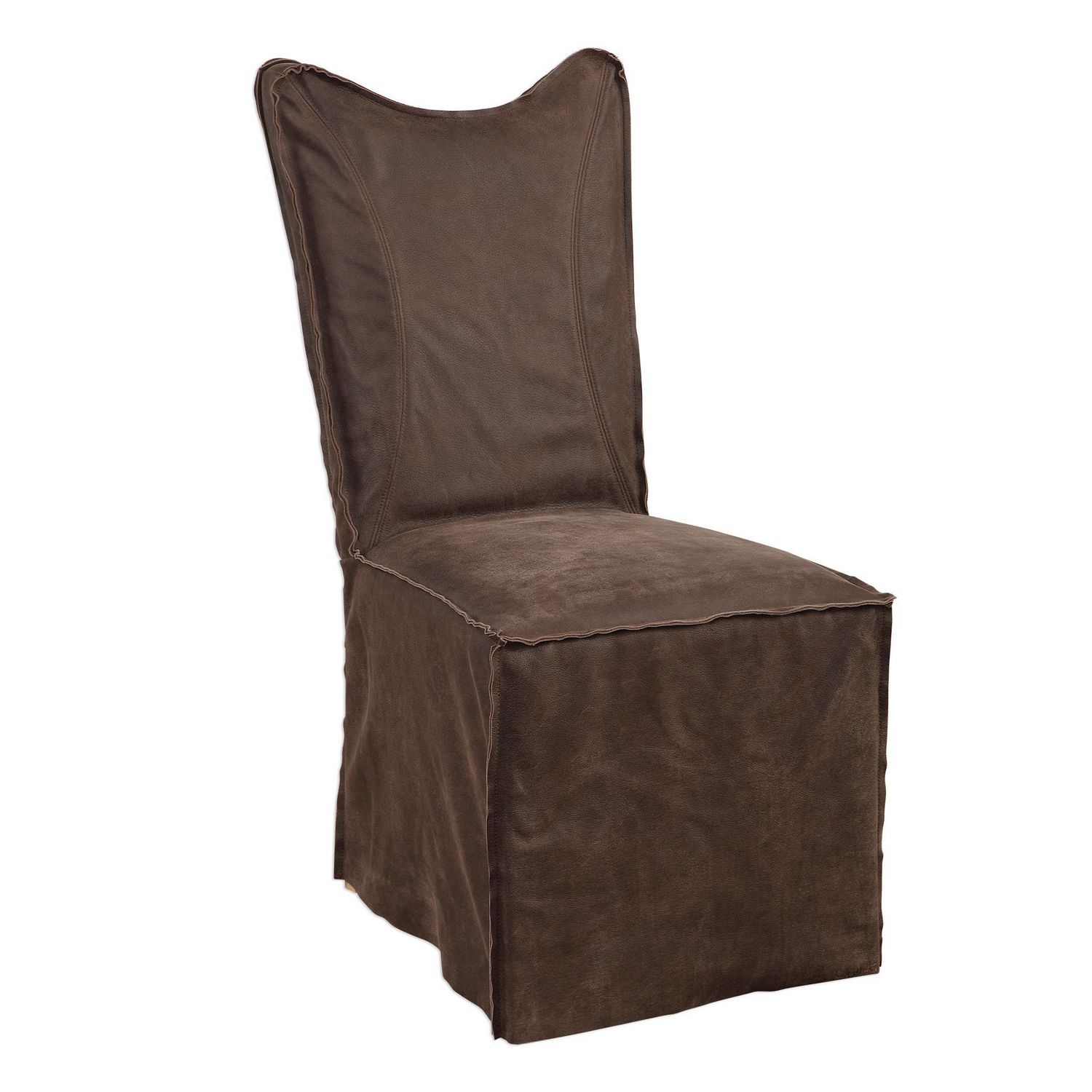 Uttermost Delroy Armless Chairs - Set of 2 - Chocolate