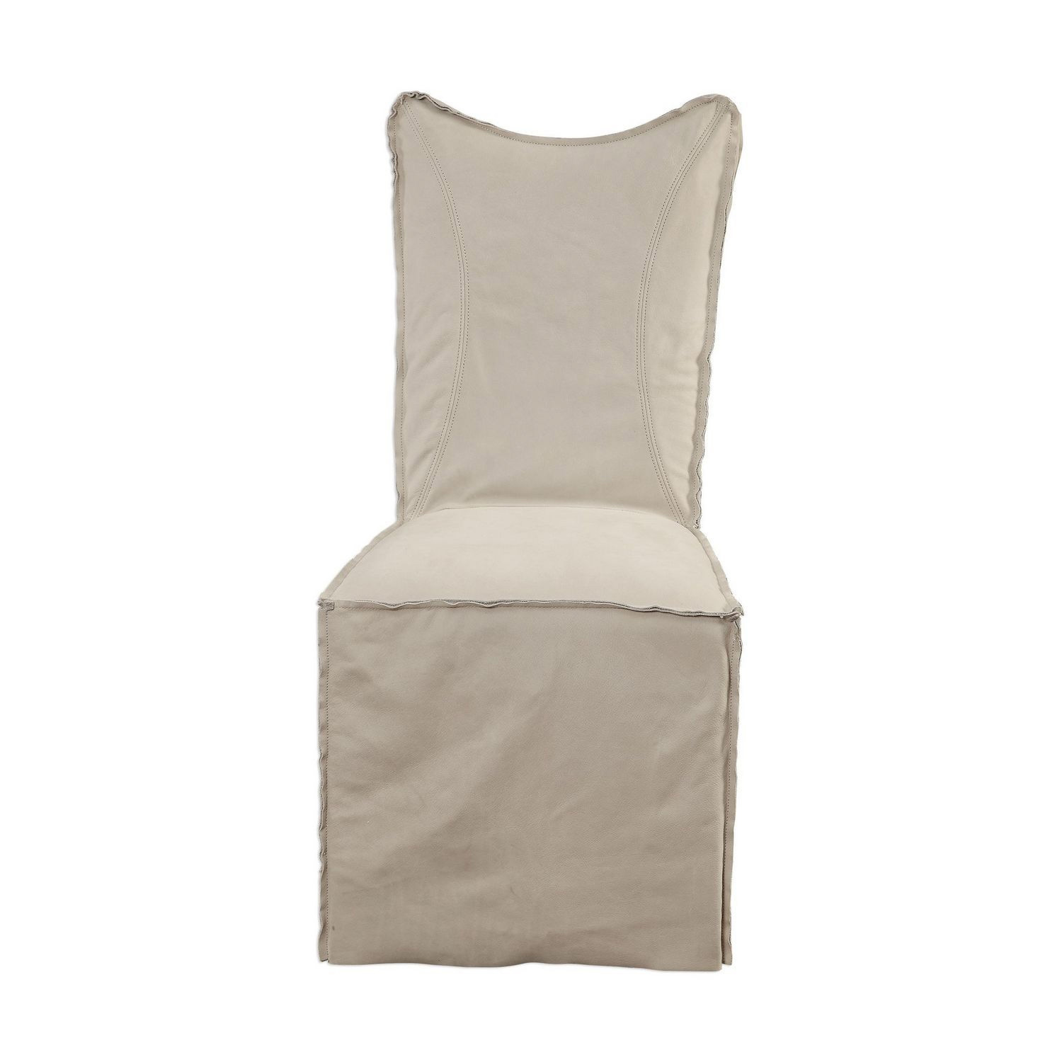 Uttermost Delroy Armless Chairs - Set of 2 - Stone Ivory