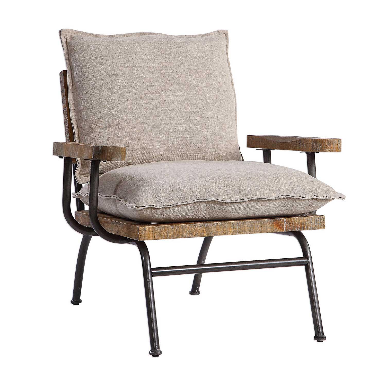 Uttermost Declan Industrial Accent Chair