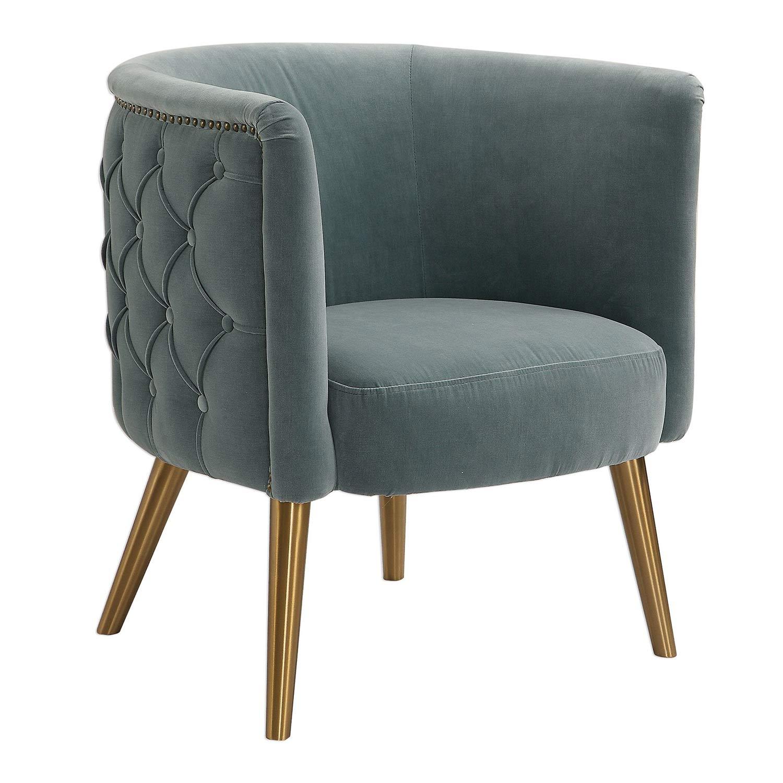 Uttermost Haider Accent Chair - Gray